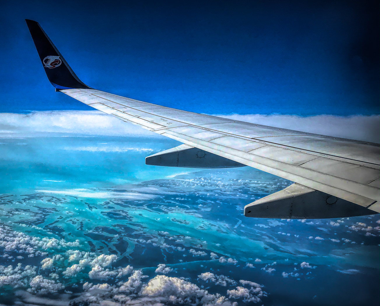 Above Nassau at 36000 ft-
