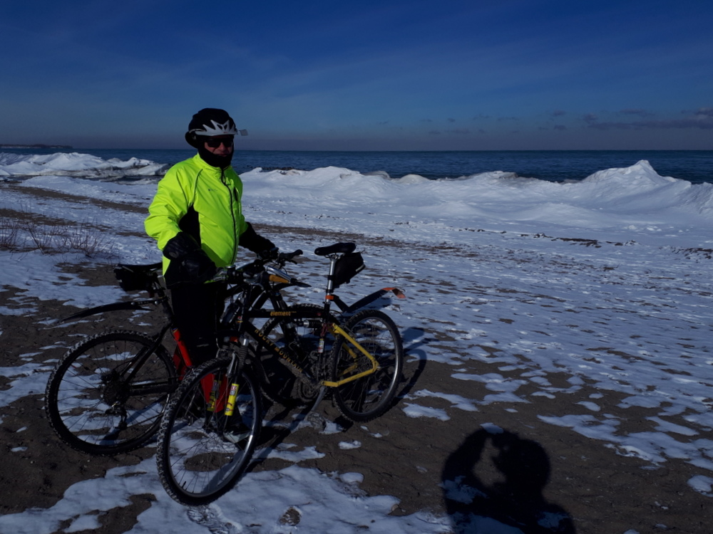 Larry - cycling on Feb 10 in -11 weather!